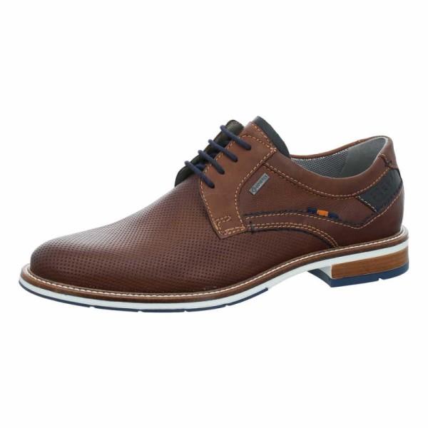 FRETZ MEN Business Schuhe braun Schnürschuh perforiert