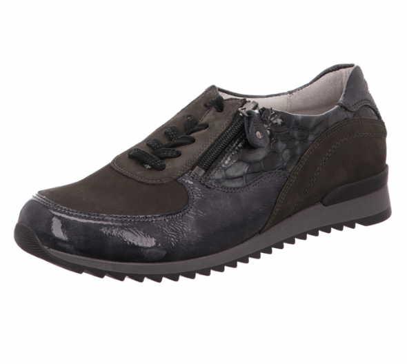 Damen Komfort Schnürer von Waldläufer blau,braun,grau,pink,schwarz | 4060049834871