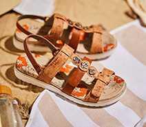 Klassisch RIEKER Damen Schuhe Klassische Sandalen Grün Kombi