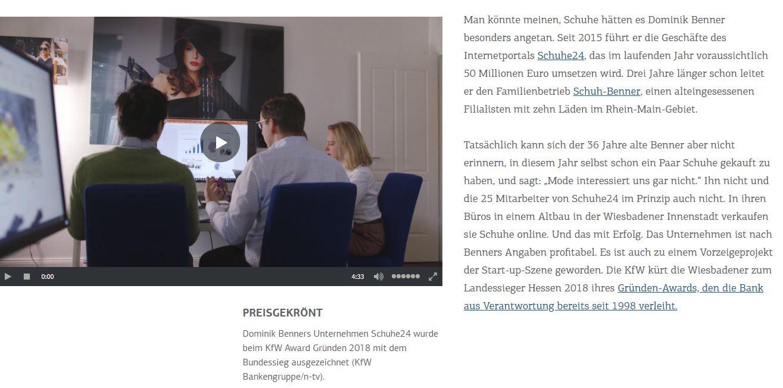 huge selection of e469b 3434d Die KFW hat eine Home Story über Schuhe24 und den Gründer ...