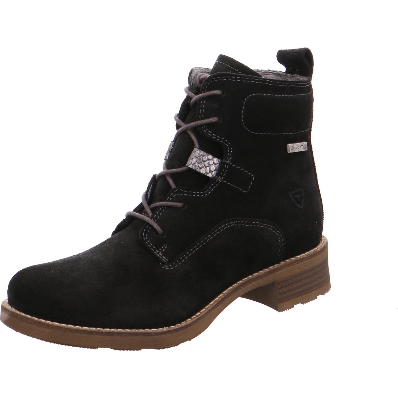 Damen Schnür-Stiefeletten von tamaris schwarz | 4055158823335