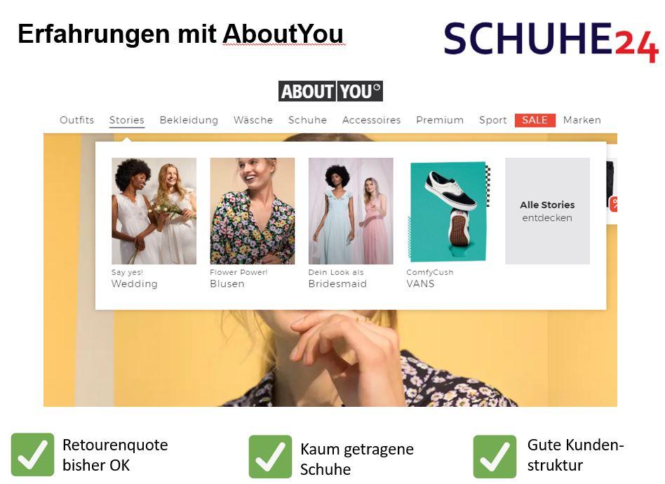 AboutYou Erfahrungen bei Schuhe24 | Schuhe24