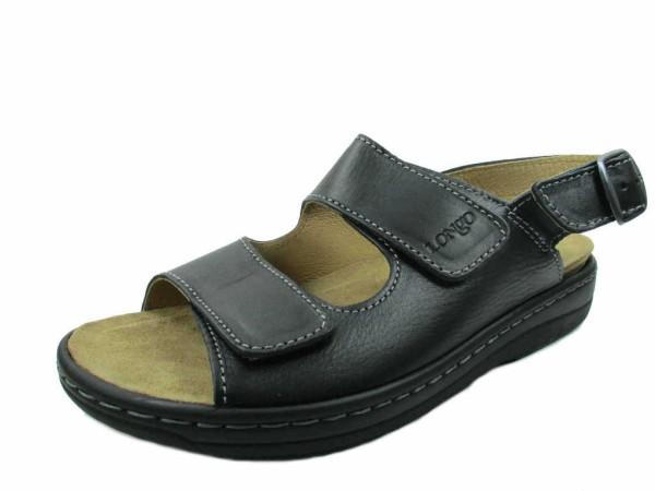 8a36304ae3ec0e Herrenschuhe Longo Komfort Sandalen schwarz 1006510 0
