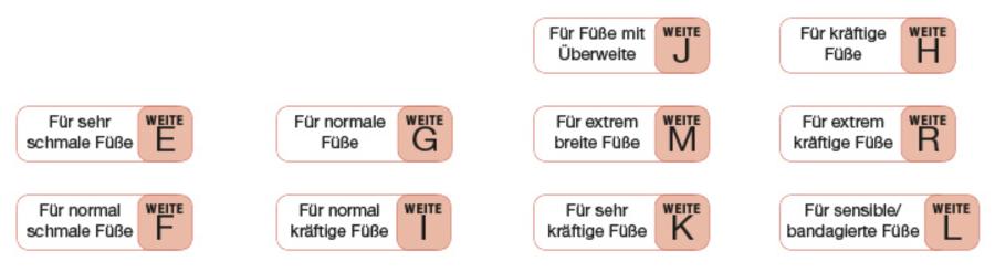 reputable site 6a29c 88846 Weite bei Schuhen - von E bis L | Schuhe24